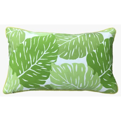Idella Leaves Outdoor Lumbar Pillow Color: Green