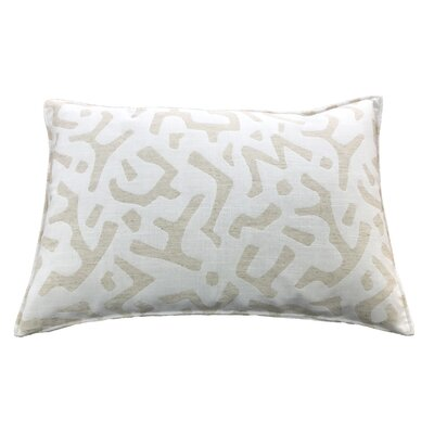 Dashiell 100% Cotton Lumbar Pillow Color: Cream
