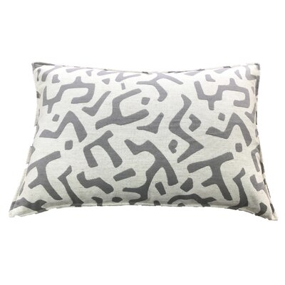 Dashiell 100% Cotton Lumbar Pillow Color: Gray