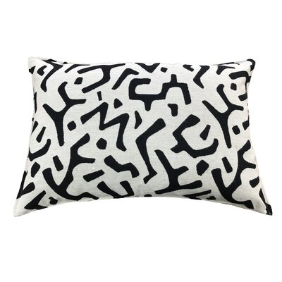 Dashiell 100% Cotton Lumbar Pillow Color: Black