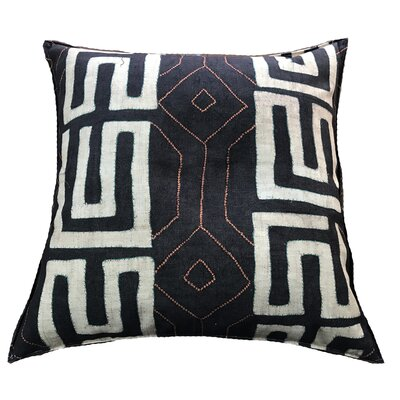 Breton 100% Cotton Floor Pillow Color: Black