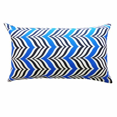 Karlee Mosque Outdoor Lumbar Pillow Color: Blue/Black