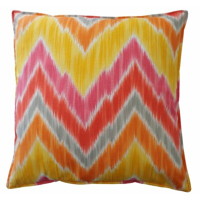 Abbigail Pulse Outdoor Throw Pillow Color: Melon