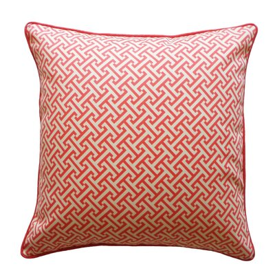 Lyons Maze Outdoor Throw Pillow Color: Cardinal