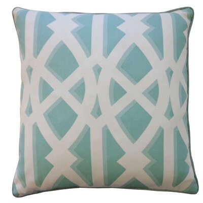 Condon Trap Outdoor Throw Pillow Color: Sky Blue