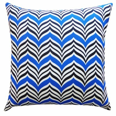 Mona Indoor/Outdoor Throw Pillow Color: Blue/Black