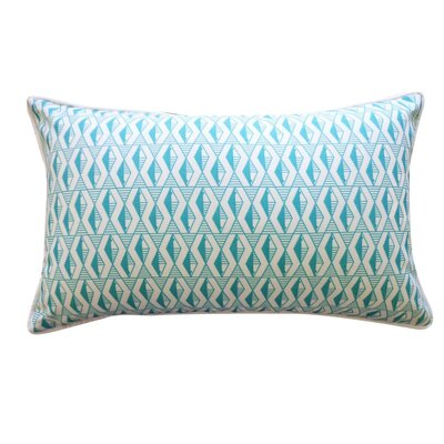 Pementel Outdoor Lumbar Pillow Color: Blue
