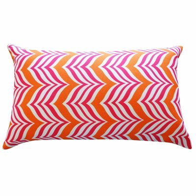 Karlee Mosque Outdoor Lumbar Pillow Color: Pink/Orange