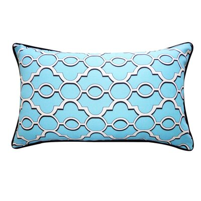 Amani Outdoor Lumbar Pillow Color: Blue