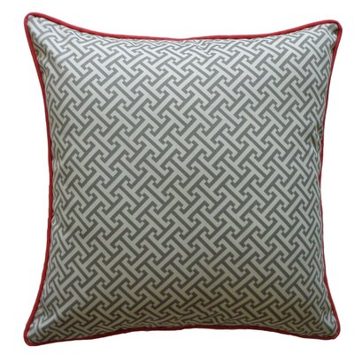 Lyons Maze Outdoor Throw Pillow Color: Cardinal/Gray