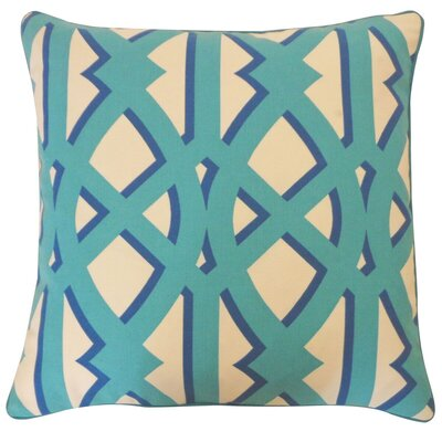Condon Trap Outdoor Throw Pillow Color: Blue/Green
