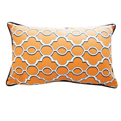 Amani Outdoor Lumbar Pillow Color: Orange