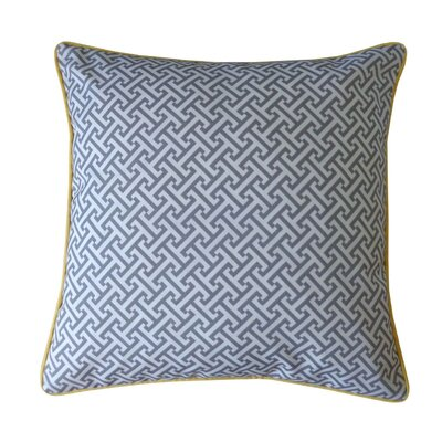 Lyons Maze Outdoor Throw Pillow Color: Gray/Yellow