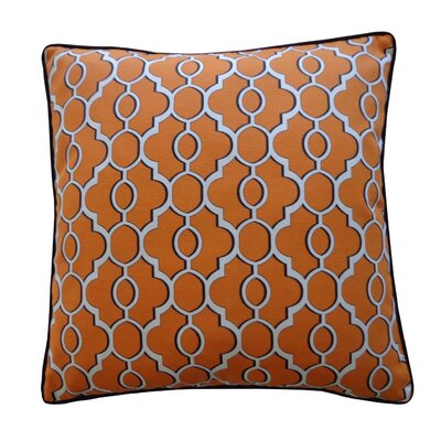 Amani Outdoor Throw Pillow Color: Orange