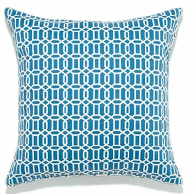 Lowville Mosaic Outdoor Throw Pillow Color: Blue