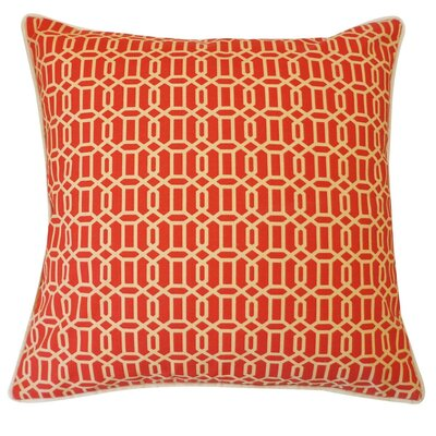 Lowville Mosaic Outdoor Throw Pillow Color: Red