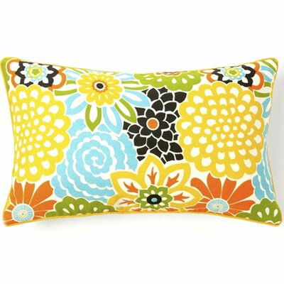 Bloom Cotton Lumbar Pillow Color: Multi