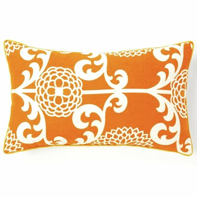 Floret Cotton Lumbar Pillow Color: Orange