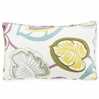 Hosta Lily Lumbar Pillow Color: Alabaster