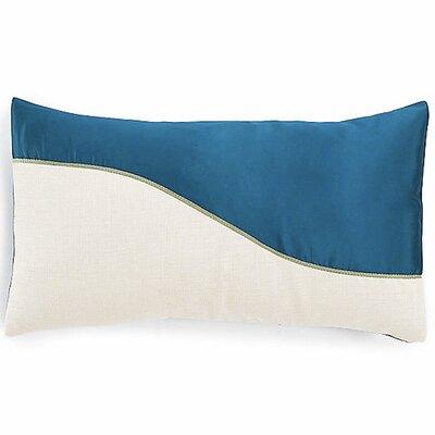 Wave Lumbar Pillow Color: Blue