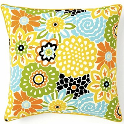 Bloom Cotton Throw Pillow Color: Confetti