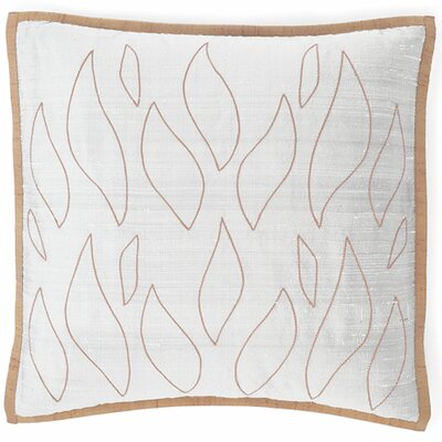 Flames Silk Throw Pillow