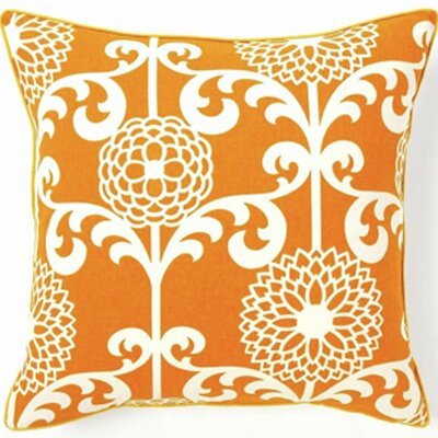 Floret Silk Throw Pillow Color: Orange
