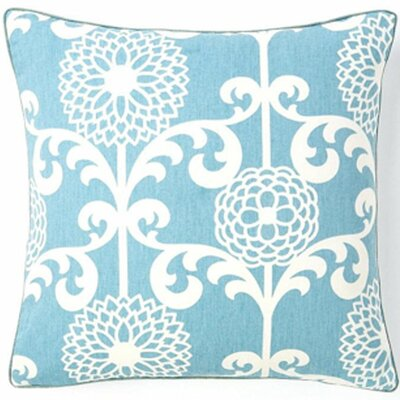 Floret Silk Throw Pillow Color: Sky
