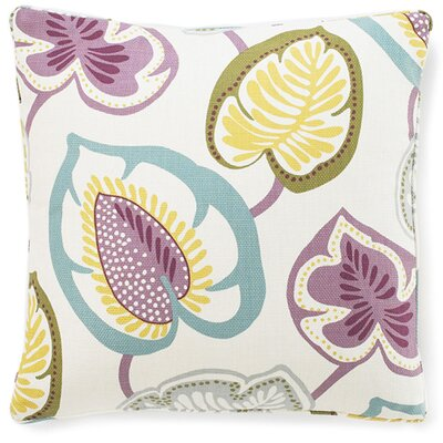 Hosta Lily Cotton Throw Pillow Color: Alabaster