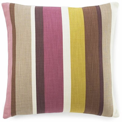 Hosta Stripe Cotton Throw Pillow Color: Alabaster