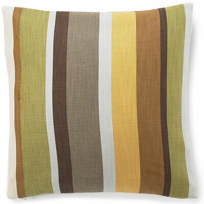 Hosta Stripe Cotton Throw Pillow Color: Celadon