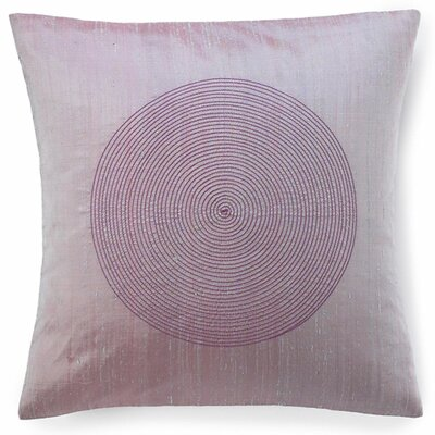 Spiral Silk Throw Pillow Color: Berry