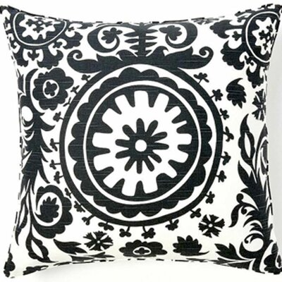 Suzani African Cotton Throw Pillow Color: Grey