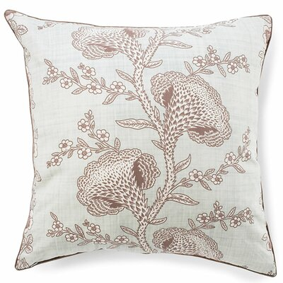 Geisha Cotton Throw Pillow Color: Powder Blue