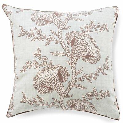 Geisha Cotton Throw Pillow Color: Powder Blue
