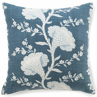 Geisha Cotton Throw Pillow Color: Slate Blue