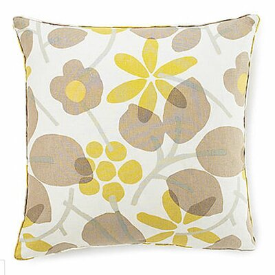 Bethe Flower Linen Throw Pillow