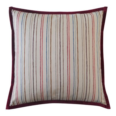 Square Alita Stripes Cotton Throw Pillow