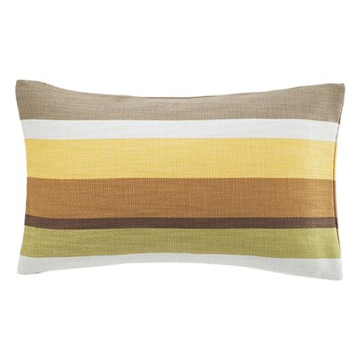 Hosta Rectangular Stripes Cotton Lumbar Pillow Color: Celedon