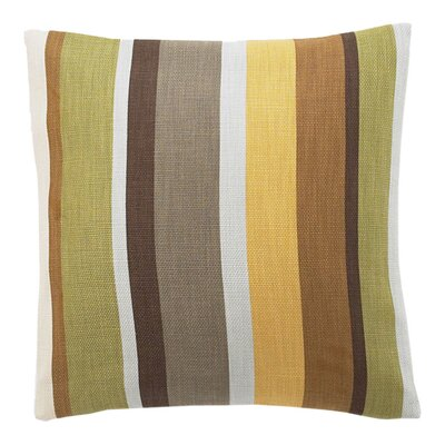 Hosta Square Stripes Cotton Throw Pillow Color: Celedon