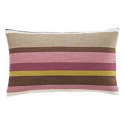 Hosta Rectangular Stripes Cotton Lumbar Pillow Color: Alabaster