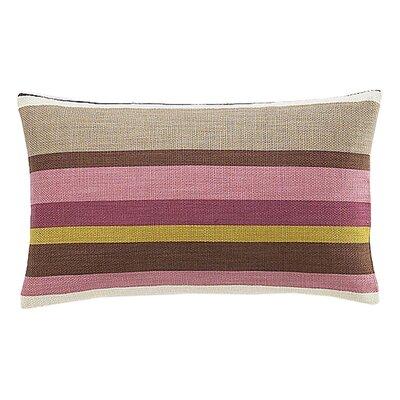 Hosta Rectangular Stripes Cotton Lumbar Pillow Color: Alabaster
