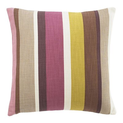 Hosta Square Stripes Cotton Throw Pillow Color: Alabaster