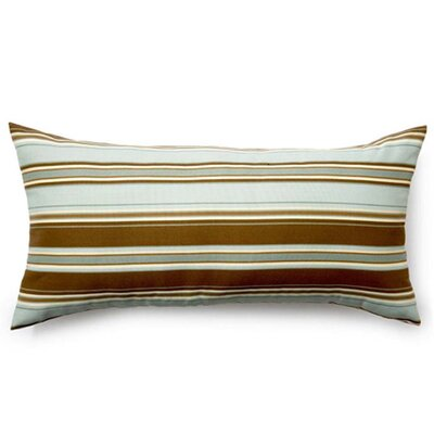 Thick Stripe Outdoor Lumbar Pillow Color: Spa