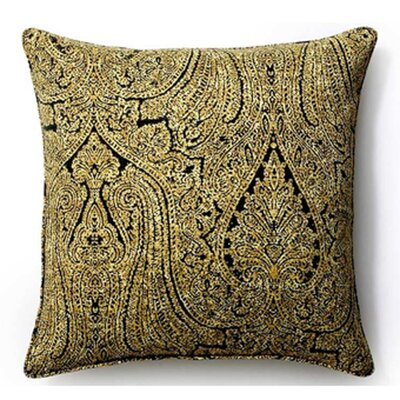 Paisley Indoor/Outdoor Throw Pillow Size: 26 x 26, Color: Ebony