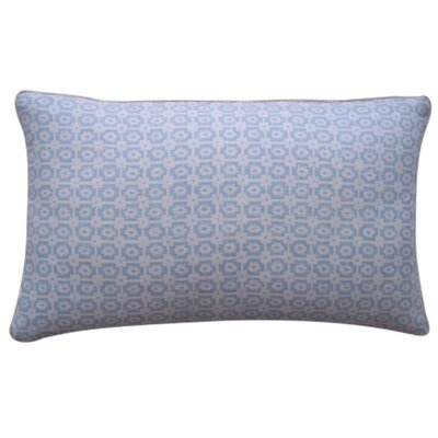 Diana Linen Lumbar Pillow Color: Sky