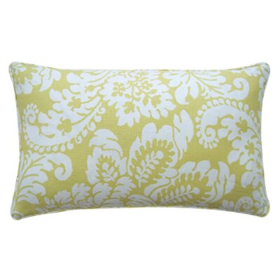 Hibiscus Linen Lumbar Pillow Color: Lemon