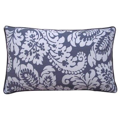 Hibiscus Linen Lumbar Pillow Color: Pewter