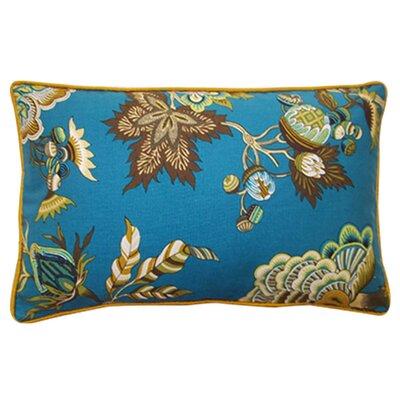 Jazmine Linen Lumbar Pillow Color: Jade