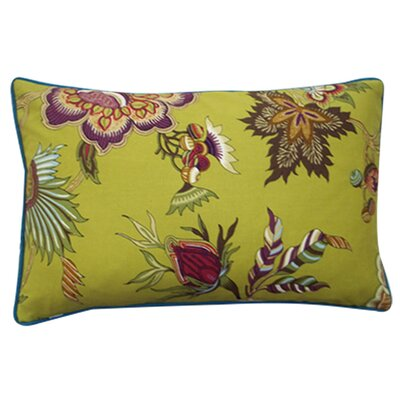 Jazmine Linen Lumbar Pillow Color: Plum